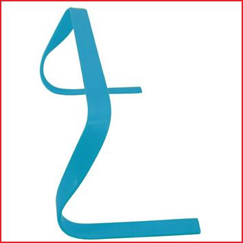 flexibele horde van 15 cm in de kleur blauw