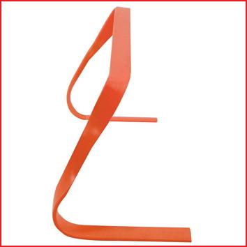 30 cm hoge flexibele horde in de kleur rood