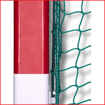zaalhockeydoelnetten met een ingeweven elastiek ter bescherming van de netrand