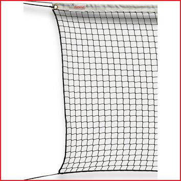 tennisnet in knooploos polypropyleen voorzien van een randkoord