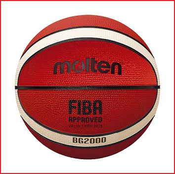 de Molten B5G2000 is een rubberen basketbal met een goede grip