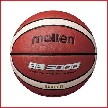 de Molten B5G3000 is een synthetisch lederen basketbal met een goede balvastheid