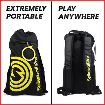 een rugzak met schouderbanden voor al je Spikeball Pro onderdelen