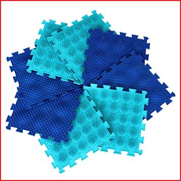 orthopedische puzzel bestaande uit 8 voetmatten