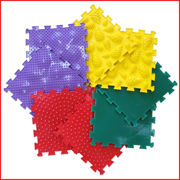 set van 8 orthopedische matten die voldoen aan de strengste veiligheidsvoorschriften