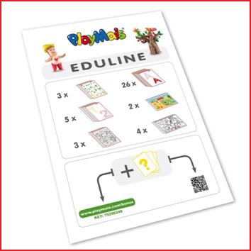 deze playmais eduline heeft meer dan 40 geïllustreerde A4 kaarten