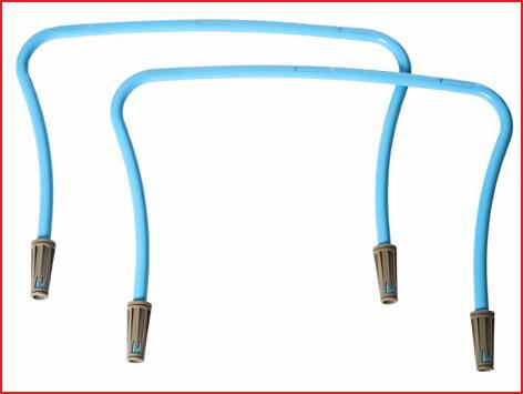 rechte horden in duurzaam aluminium geschikt voor het mini parcours van Gonge
