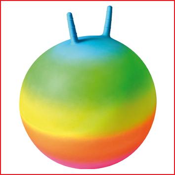 een springbal regenboog met een diameter van 50 cm
