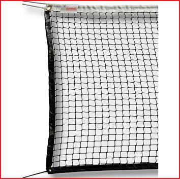 tennisnetten met rondom een zoomband