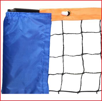 het tennisnet heeft een draaddikte van 2 mm