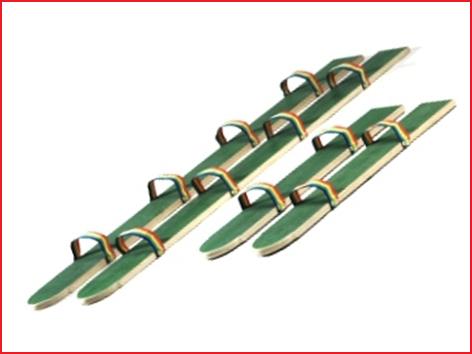 houten loopsk's 160 cm huren