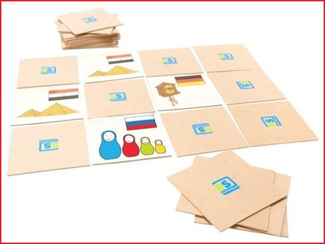 memoryspel bestaande uit 15 paar houten plaatjes huren