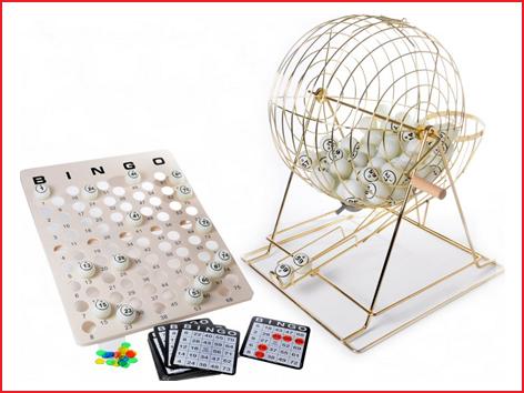 kunststof controlebord inclusief 18 bingokaarten en bingofiches
