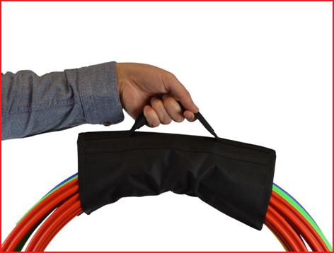 polyester draagband hoepels met velcrosluiting