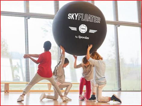 de Spordas Skyfloater is geschikt voor Kin-ball sport