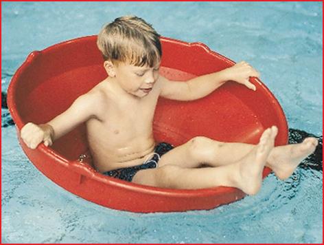 deze Gonge top kan ook als bootje gebruikt worden