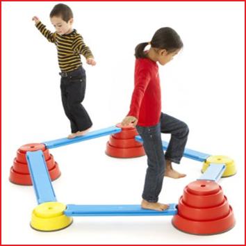 de Gonge Build 'N Balance starter set is een evenwichtsparcours voor alle leeftijden