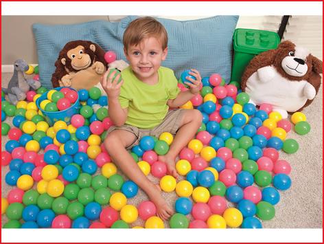 de ballenbakballen worden geleverd in een kleurenassortiment