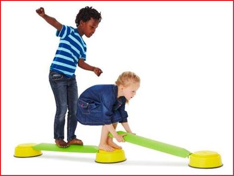 maak je eigen evenwichtsparcours met deze balanceerbalk Gonge