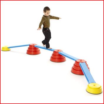 de Gonge Build 'N Balance set is opgebouwd uit afzonderlijke elementen