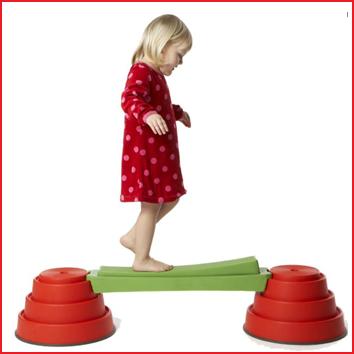 het bewegen van de wipplank vereist uiterste concentratie tijdens het stappen