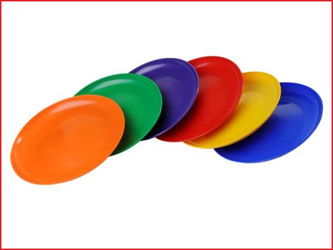 bij een bestelling van 6 jongleerborden worden ze geleverd in een kleurenassortiment