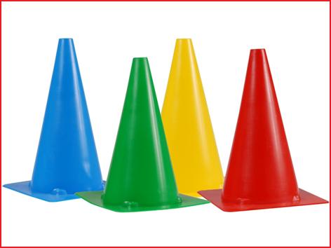 markeerkegel 20 cm in 4 verschillende kleuren
