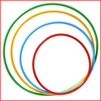 multifunctionele gymnastiekhoepel met een diameter van 65 cm
