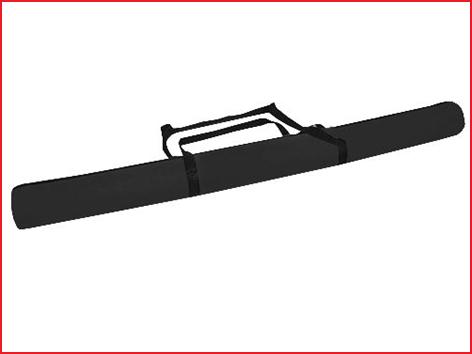 een nylon speertas van Ø16,5 cm x L. 276 cm