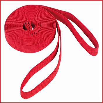 rode springelastieken met een breedte van 2,5 cm