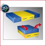 een 3-delige multifunctionele mat die zowel open als dichtgeklapt gebruikt kan worden
