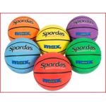 set van 6 kleurrijke basketballen maat 7 voor scholen