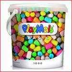een emmer met 1000 playmais basic en accessoires
