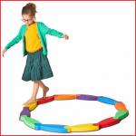 balanceerspel River Gonge bestaande uit 6 elementen om kinderen te leren balanceren