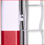 indoor doelnetten met een ingeweven elastiek