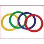 set van 4 jongleerringen 24 cm geleverd in een kleurenassortiment