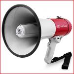 een megafoon 30 watt met een bereik tot 1000 meter