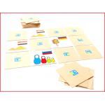 memory spel landen bestaande uit 15 paar houten plaatjes