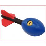de vortex speer mini maakt een scherp en fluitend geluid bij het werpen