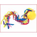 de pocobal is een kleine bal met een veelkeurige staart