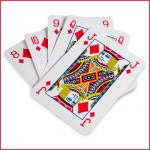 een volledige boek van 54 reuze speelkaarten