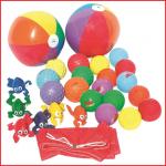 een gevarieerd speelpakket voor onze spelparachutes