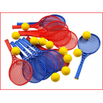 een educatieve tennisset voor initiatielessen