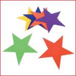 set van 6 vloermarkeringen in de vorm van een ster