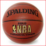 de Spalding NBA Gold is een competitie basketbal met het NBA logo