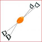 swoosh bal is een spel bestaande uit een kunststof bal, 2 touwen en 4 handvaten