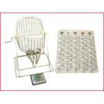 koperen bingomolen XL met 75 ping-pong ballen (40 mm) huren