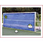 blauw doelschot oefenwand in PE gaas 200gr/m² met een afmeting van 3 x 2 meter huren