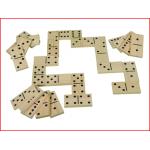 set van 28 grote houten dominostenen voor buiten huren