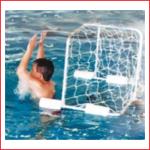 een waterpolodoel met drijvers, net en 1 bal huren